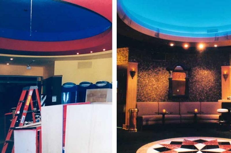 Casbah Rotunda Entrance Before and After